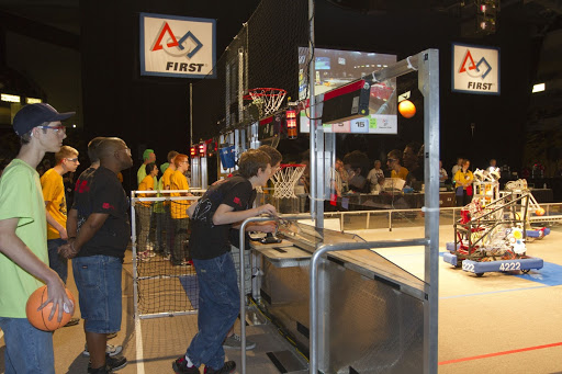 High school teams compete in the regional FIRST robotics competition took in hopes of advancing to the national robotics championship.