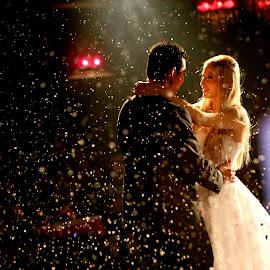 couple by Ilias Zaxaroplastis - Wedding Reception ( love, reception, wedding, woman, couple, bride, moments, man )