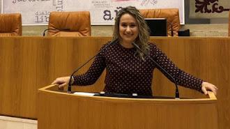 Rosa Maldonado, durante una visita al Parlamento de La Rioja.