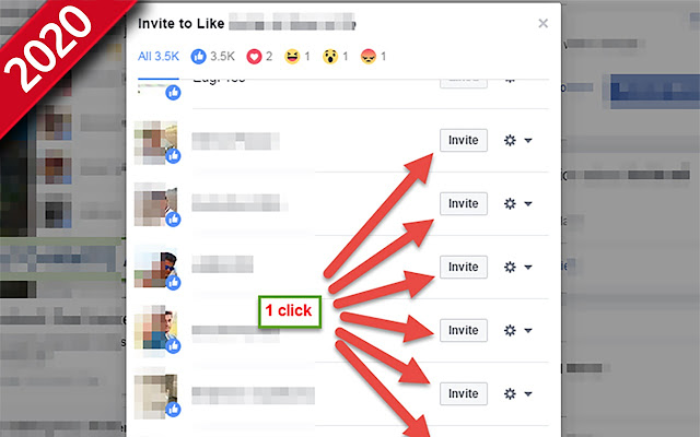Invite post likers to like page - 2020