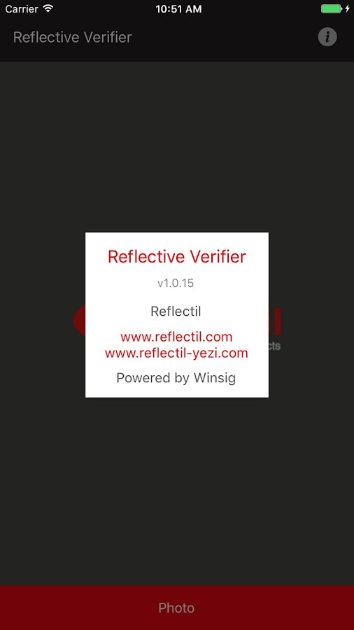 Reflective Verifier– captura de ecrã