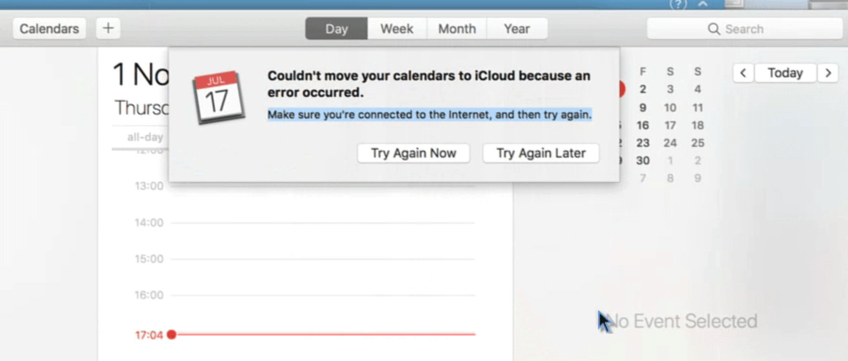 "[Solved] How to Fix macOS Calendar Error ""Couldn't move your calendars to iCloud because an error occurred"""