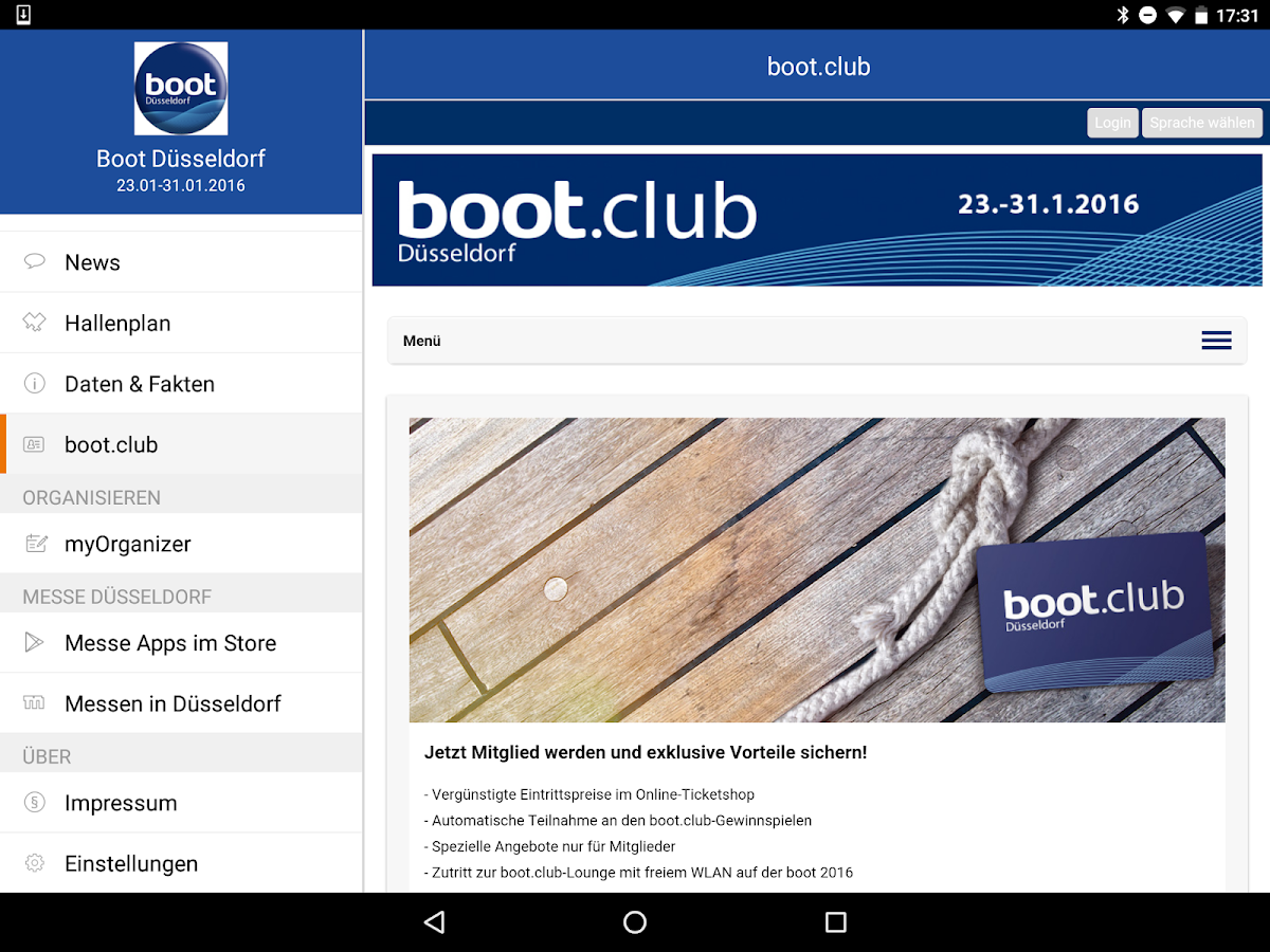 boot Düsseldorf App- screenshot