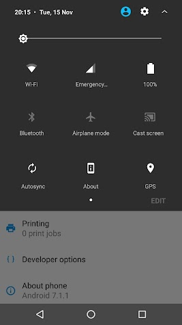 #ProjectUI - Android Nougat Screenshot