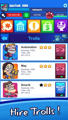 Troll Face Clicker Quest 0.98 Screenshots 2