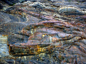 Photo: Canyon walls polished by the glacier