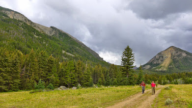 Photo: It started to rain soon after we reached our vehicle. We left my driveway in Helena at 6 am and returned at 6 pm.