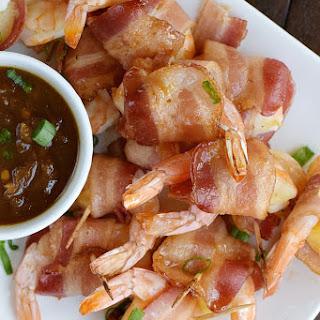 Teriyaki Bacon Wrapped Shrimp.