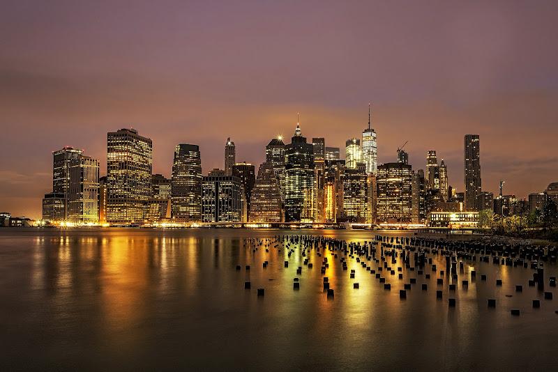 Manhattan dal vecchio molo di Stiscio