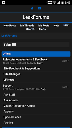 Leakforums Unofficial App
