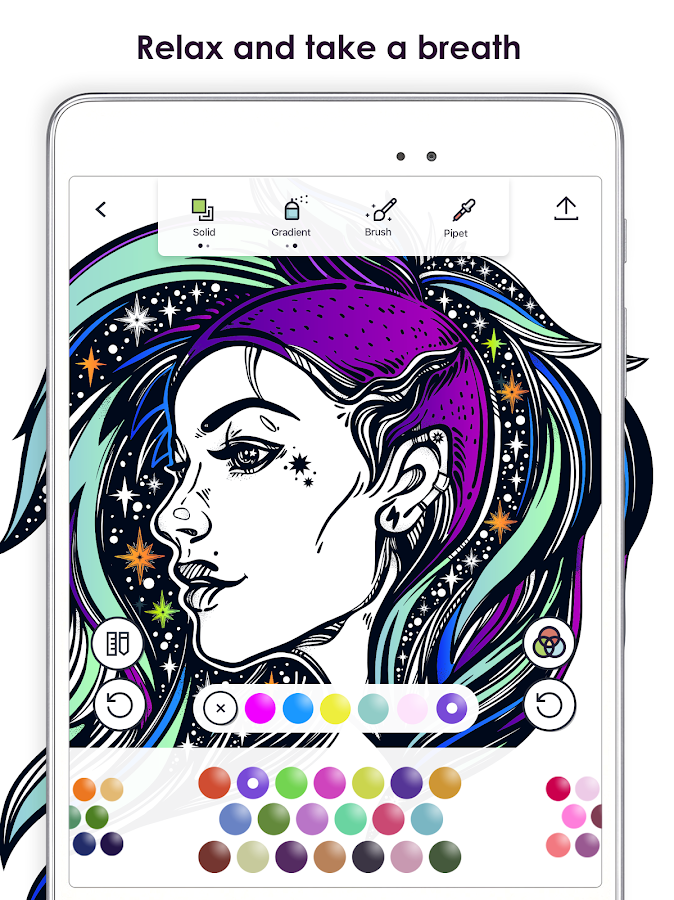 MyColorful Coloring Book For Adults Screenshot