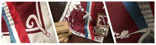 foulard bréguet point d'interrogation ? soie fabrication française barnstormer made in France vintage pilote French army livre des records Lindbergh traversée transatlantique
