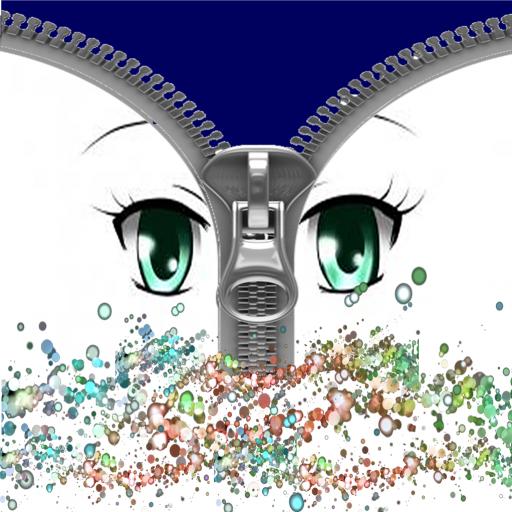 Beautiful eye zip lock screen
