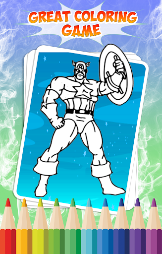 Superhero Coloring Book Apps Apk Free Download For Android PC Windows Screenshot