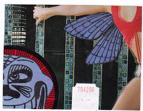 Photo: Wenchkin's Mail Art 366 - Day 185 - Card 185a