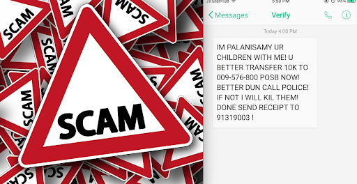 Scammer sends message of kidnapping, netizens make fun