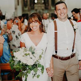 First walk as Bride & Groom :)  by Kaspars Sarovarcenko - Wedding Bride & Groom ( wedding photographer limerick )