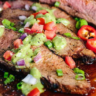 Grilled Tri-Tip with Creamy Avocado Salsa.