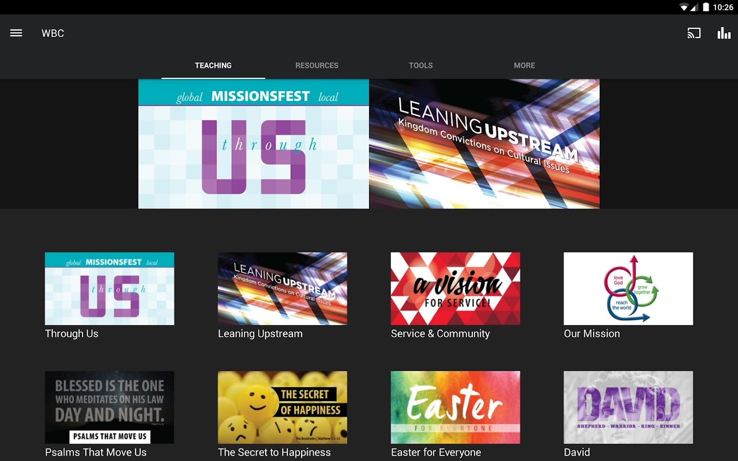 Wheaton Bible Church- screenshot