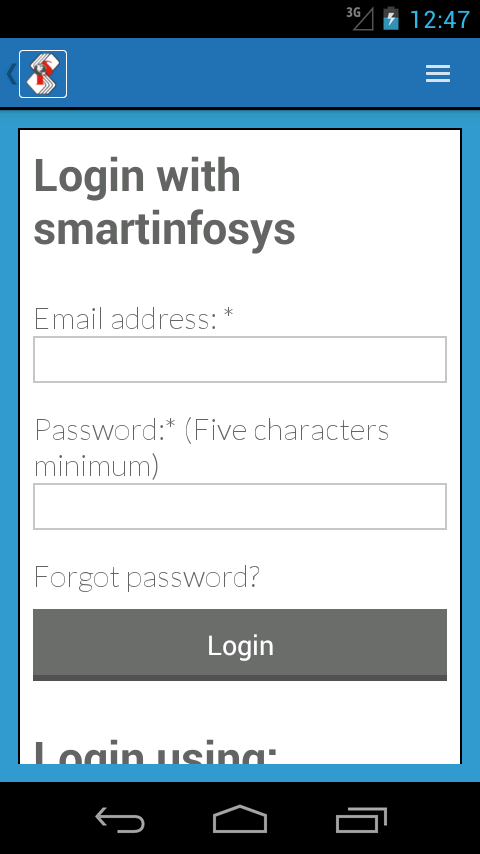 Smartinfosys.net App- screenshot