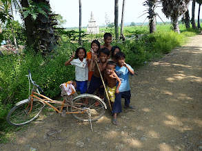 Photo: Kratie - motobiking around - temple Phnom Sombok and ricefields, Irrawady Dolphins at Kampi and Star GH accommodation 3USD