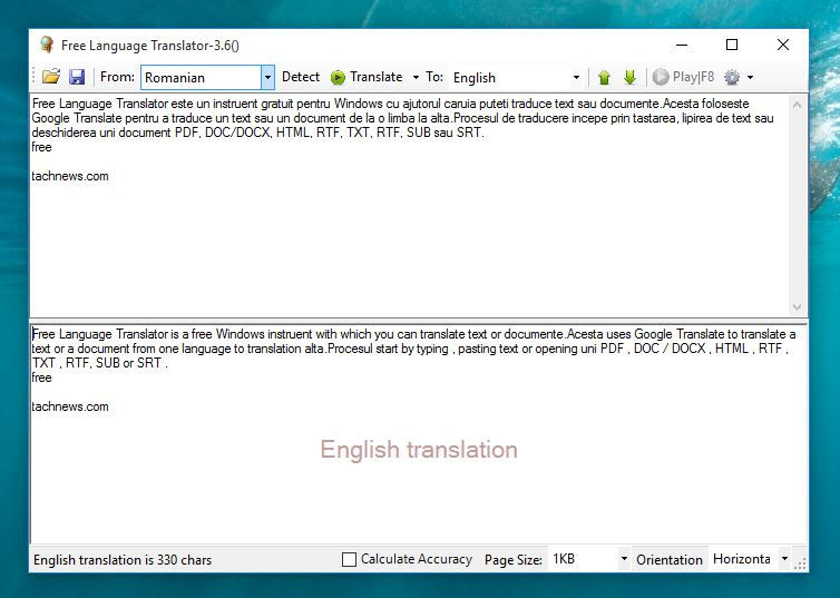 Free Language Translator- traduceti text sau documente