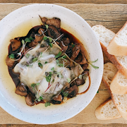 Mushroom confit with MB Trappist cheese
