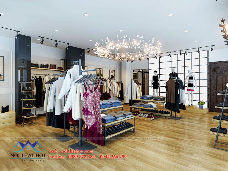thiết kế shop thời trang đa dạng