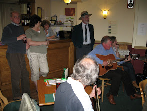 Photo: A local folk group performs at the pub at King's Head Inn for the Dereham Festival.