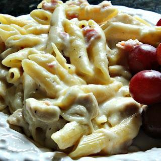 Chicken Cordon Bleu Penne Pasta.