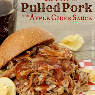 Slow Cooker Pulled Pork with Apple Cider Sauce.