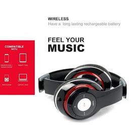Casti Stereo Bluetooth TM 010S, Wireless, Microfon, FM, TF card reader