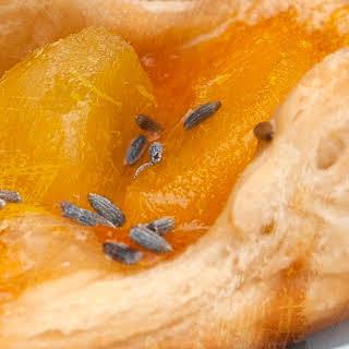 Mini Peach & Lavender Pastries.