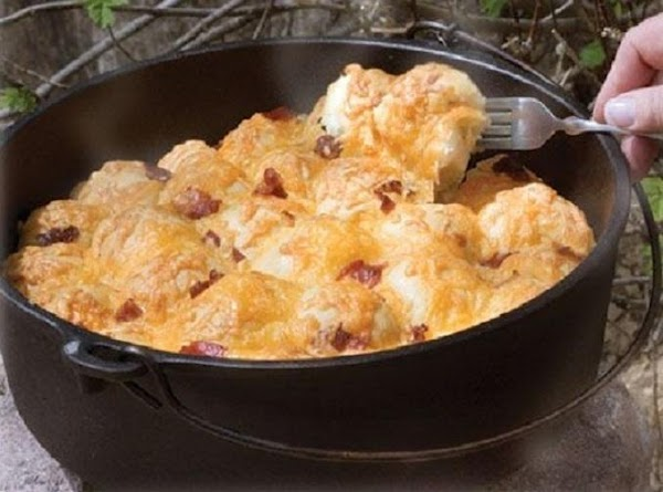 Dutch Oven Bacon Cheese Pull Aparts (by Rhodes Rolls) Recipe