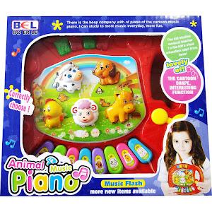 Jucarie bebe - Pian cu animale, cu sunete si lumini