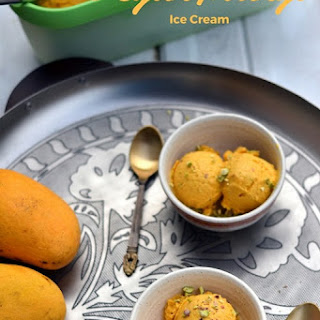 Vegan Mango Ice Cream with Pistachios