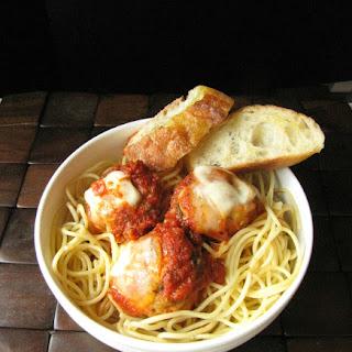 Slow Cooker Chicken Parmesan Meatballs