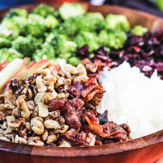 Broccoli Cranberry Salad Apples, Bacon and Walnuts