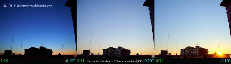 Photo: Amanecer del día 22/01/11