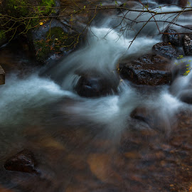 Tumbling Creek by Kathy Suttles - Nature Up Close Water ( open shutter, smooth water, rocky mountain, long exposure, suttleimpressions )