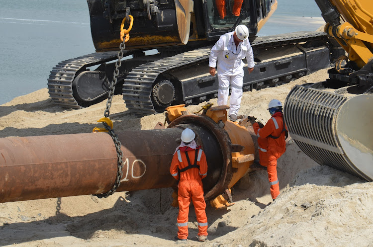 Dredging work at the Kenya Ports Authority, Mombasa, on March 15, 2019