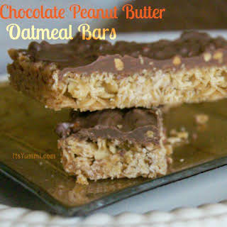 Chocolate Peanut Butter Oatmeal Bars {Wannabe Oh Henry! Bars}.