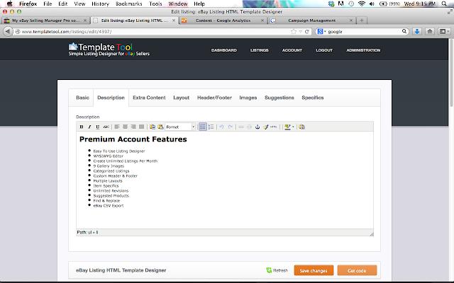 Template Tool eBay Listing Designer - Chrome 線上應用程式商店