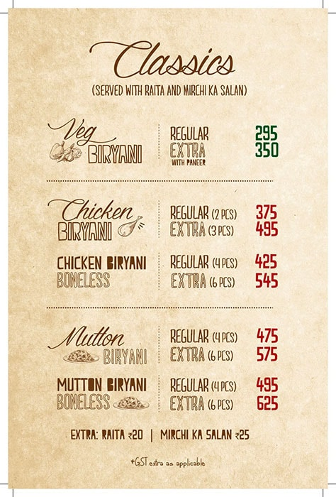 Biryani Blues menu 12