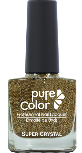 esmalte pure color sparkle champange glitter pc-802sp