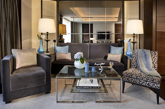 Living room at Splendid residences in CBD, Hong Kong