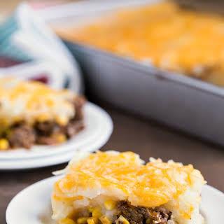 Barbecue Beef and Cheesy Potato Casserole.