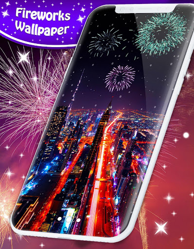 New Years 2019 Fireworks Live Wallpaper 4.8.4 screenshots 1