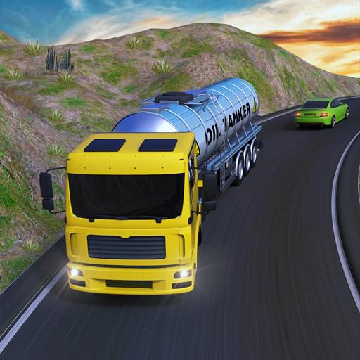 Uphill Oil Tanker Transport : Cargo Truck Driver