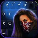 Cool Mask Girl Keyboard Background icon